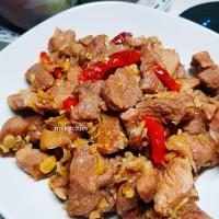 Thịt gà tây kho sả ớt - Braised lemongrass turkey